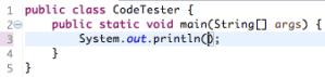 System.out.println Shortcut