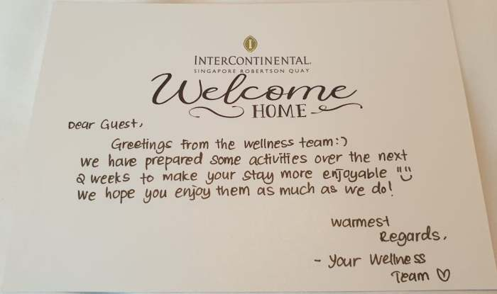 Welcome note from the Wellness Team