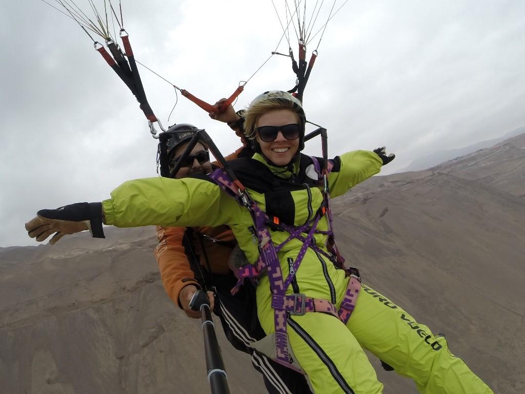 Paralotnia w Iquique tuż nad Pacyfikiem... Było fantastycznie!