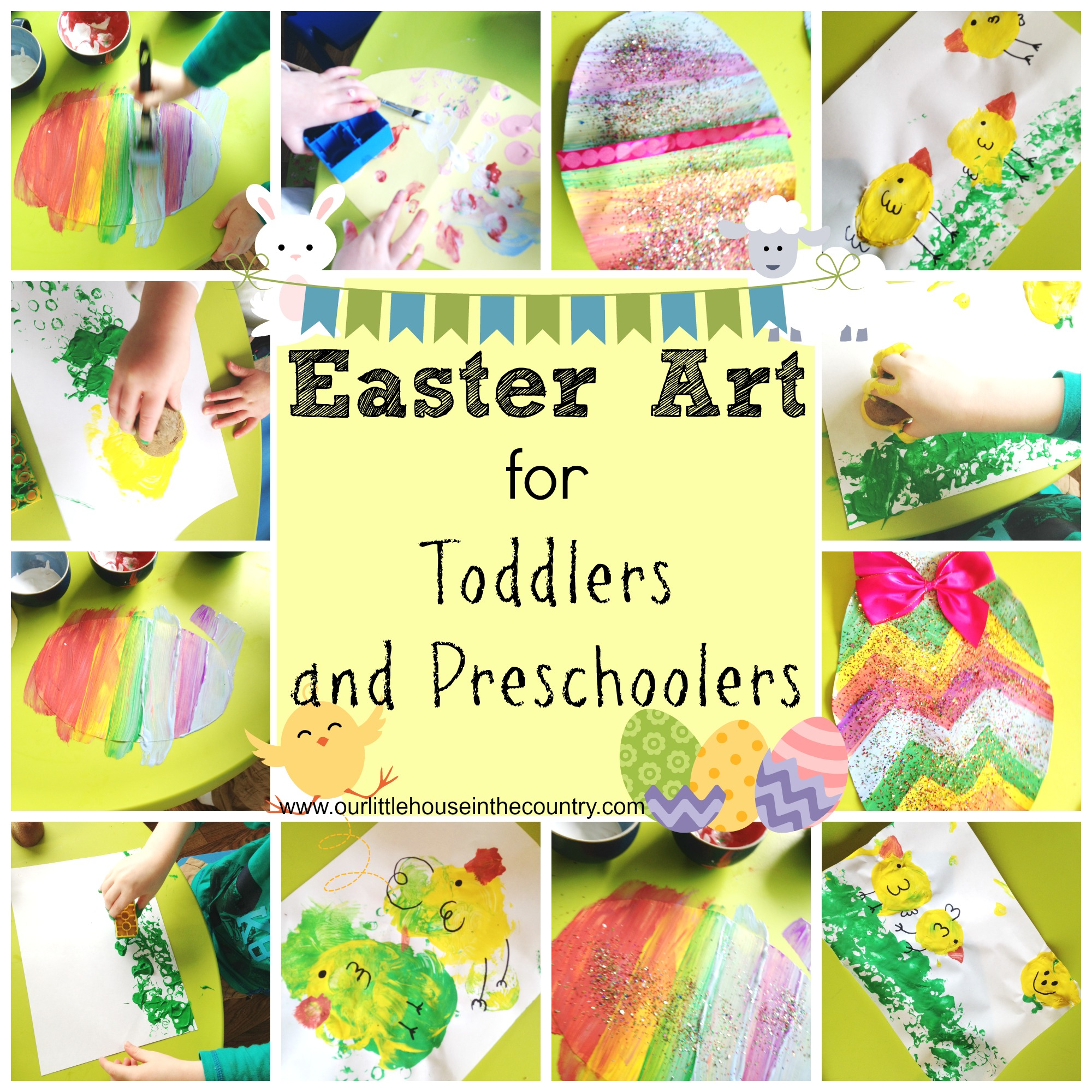 Easter Art For Toddlers And Preschoolers