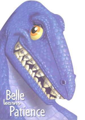 Belle Learns Patience - Dino Head Board Book (Kids Story Books)