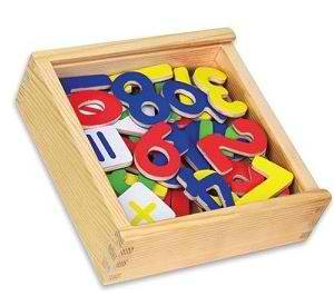 Magnetic Numbers, Wooden Toys, Educational Toys