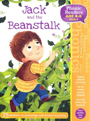 Jack and the Beanstalk - Phonic Readers Age 4-6, Level 2 (Kid's Educational Books)