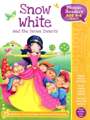 Snow White and the Seven Dwarfs - Phonic Readers Age 4-6, Level 2 (Kid's Educational Books)