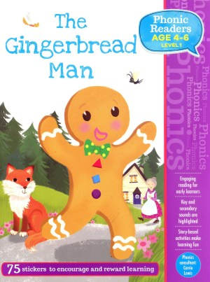 The Gingerbread Man - Phonic Readers Age 4-6, Level 1 (Kid's Educational Books)