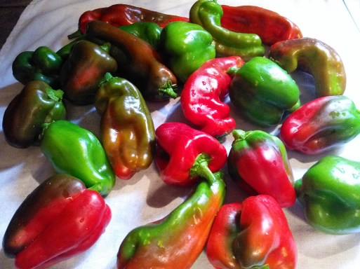 2 washed peppers