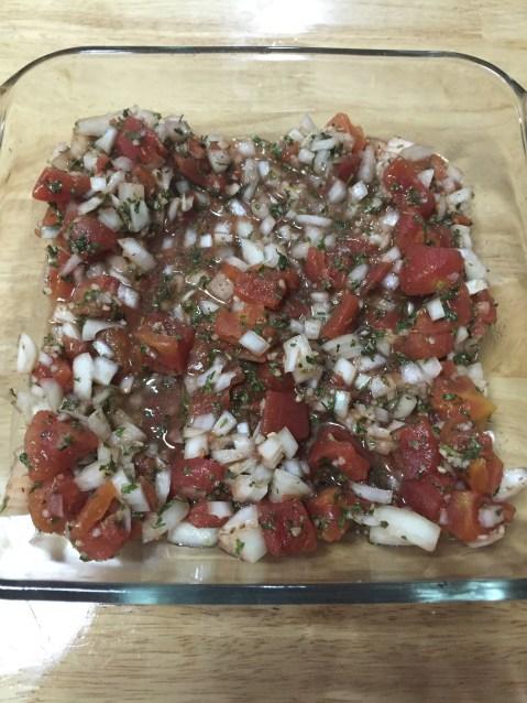 pour-mixture-into-baking-dish