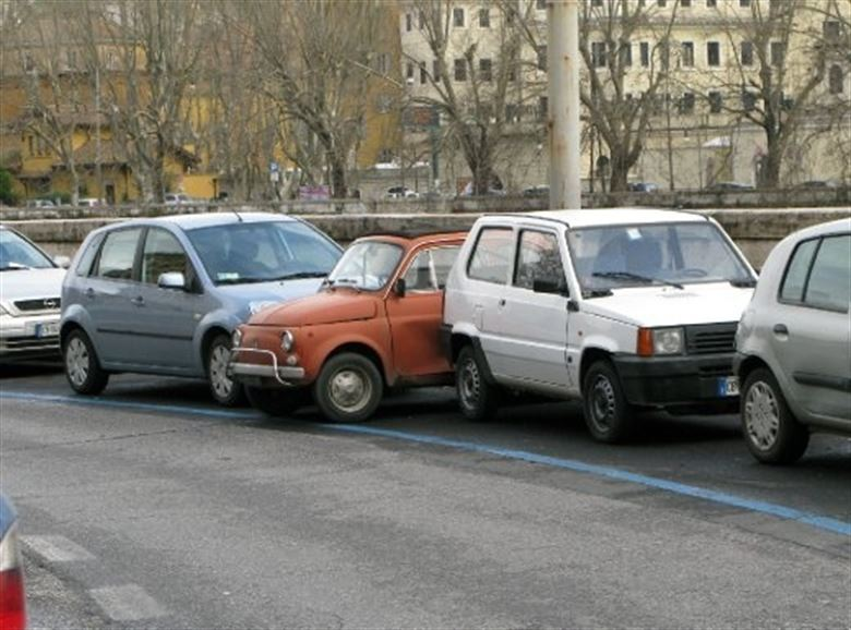 Driving in Italy - always somewhere to park!
