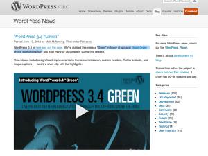 Wordpress Green 3.4 is here