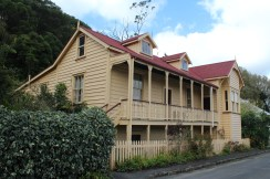 The former Kohukohu police station, later used as a working men's club