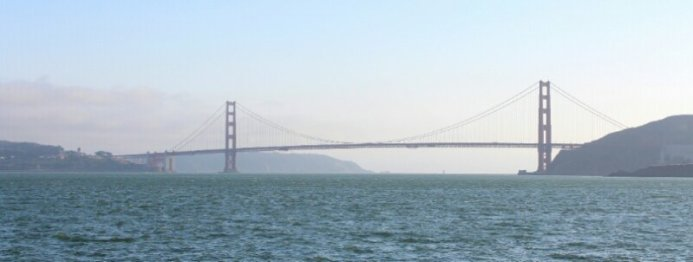 Golden Gate Bridge from the ferry to Sausalito