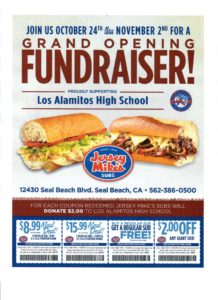Jersey Mike's flyer for LAHS
