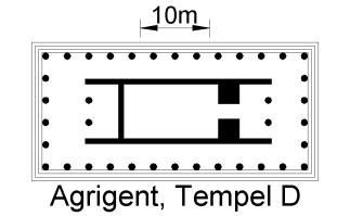 Temple périptère (6 colonnes sur 13)