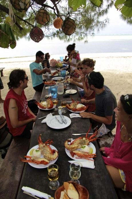 Table à 18 langoustes :-)