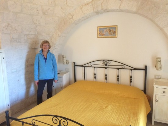Hilary inside Trullo