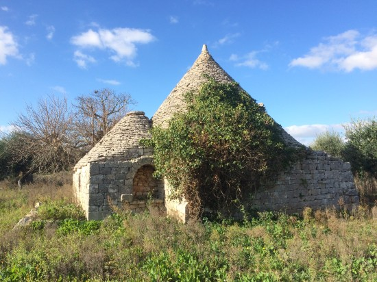 Trullo in fields