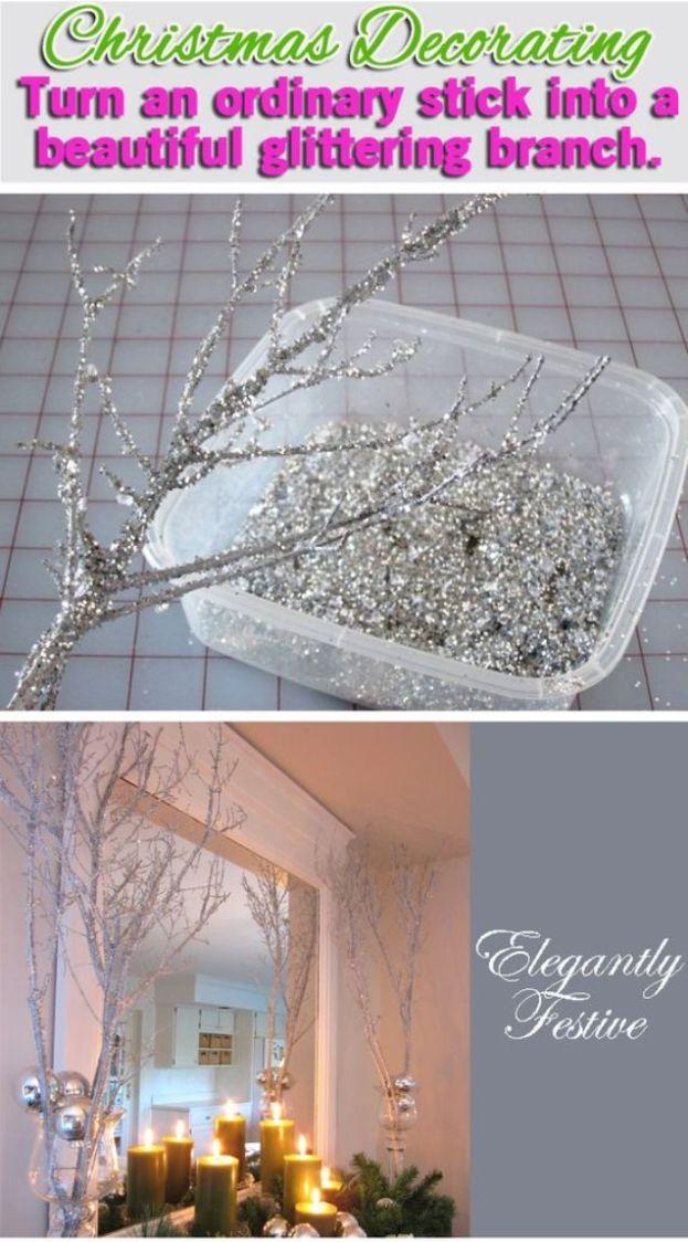 silver glitter spray paint