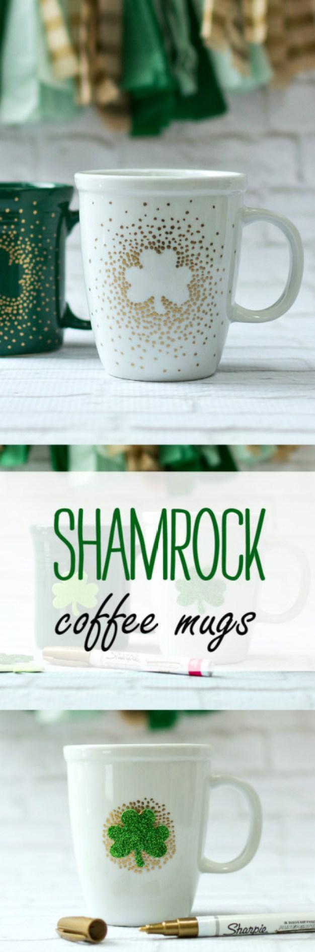 diy st patrick's day decorations -Irish Coffee Mugs