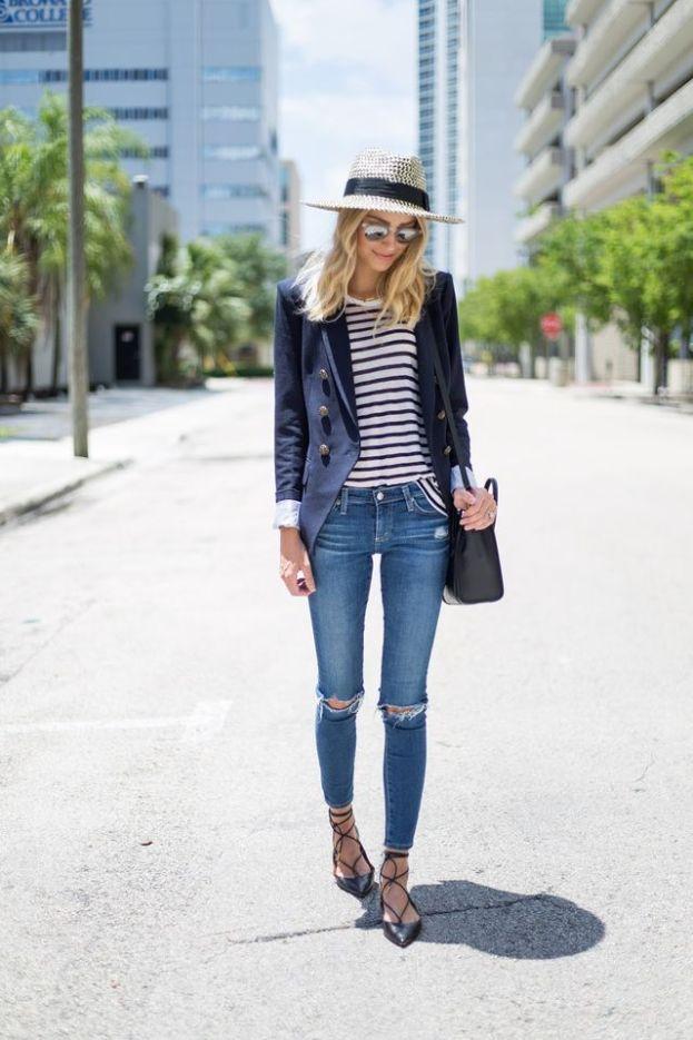 how to wear denim to work