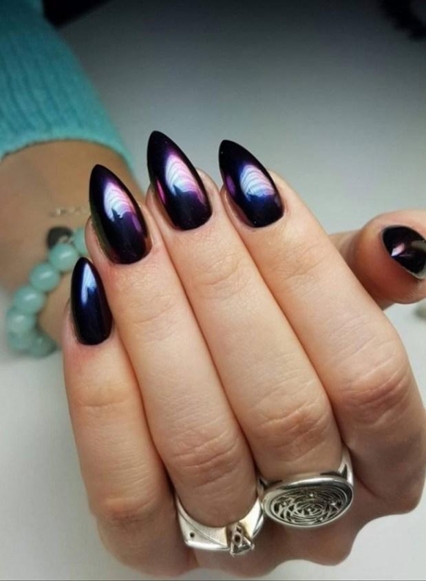 metallic nail designs