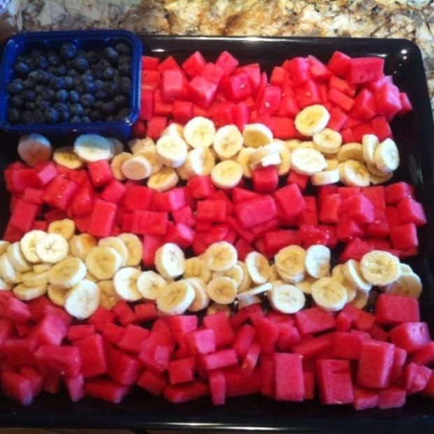 4th of July flag fruit dessert 2