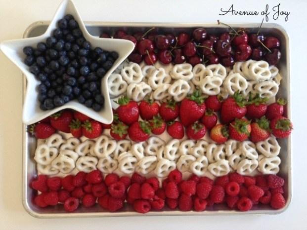 4th of July flag fruit dessert 4
