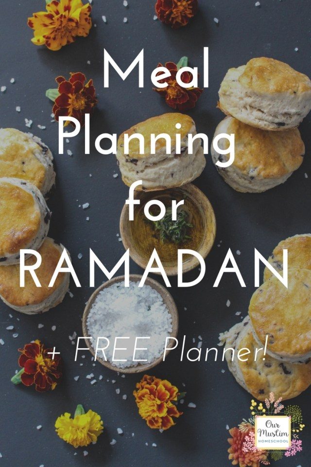 Get Ready for Ramadan with this FREE Meal Planner! Meal Planning for Ramadan