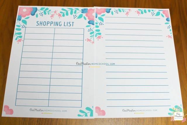 Ramadan Meal Planner Shopping list