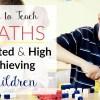 Homeschool Maths curriculum for gifted children