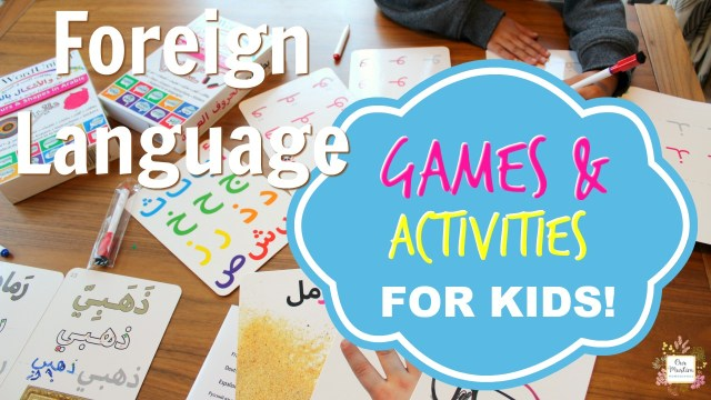 foreign language games and activities for kids