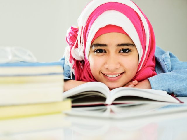 Homeschooling Muslim girl
