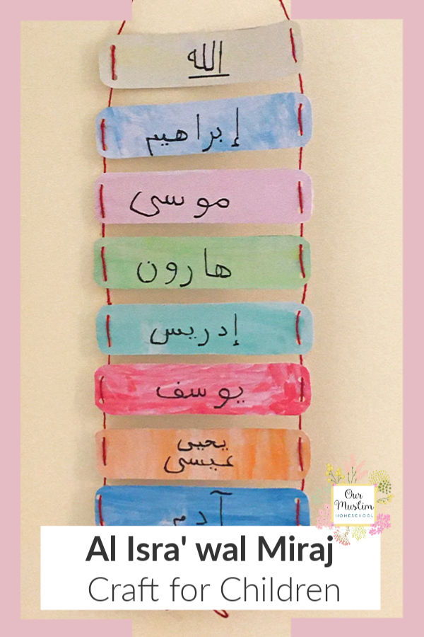 Islamic Calendar Isra wal Miraj Craft for Children! Teach kids about the night journey and Rajab with this fun activity!