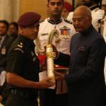 ms dhoni receives-padma-bhushan-award