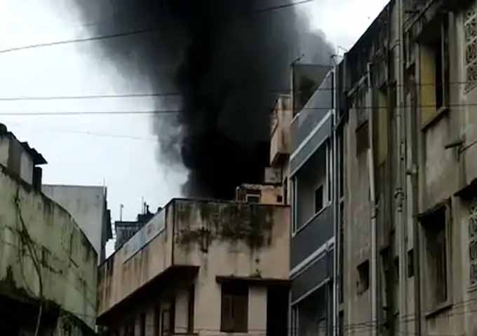 fire in plastic warehouse