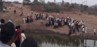 पत्नी बुडत असल्याचे दिसताच पतीची तलावात उडी , दोघांचा तलावात बुडून मृत्यू