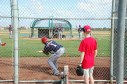 Observing practice at Spring Training in 2009