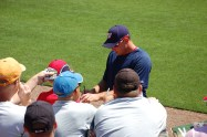 Ryan Zimmerman signing a ball for me at Spring Training in 2009 (I'm in the red hat with blue sides)