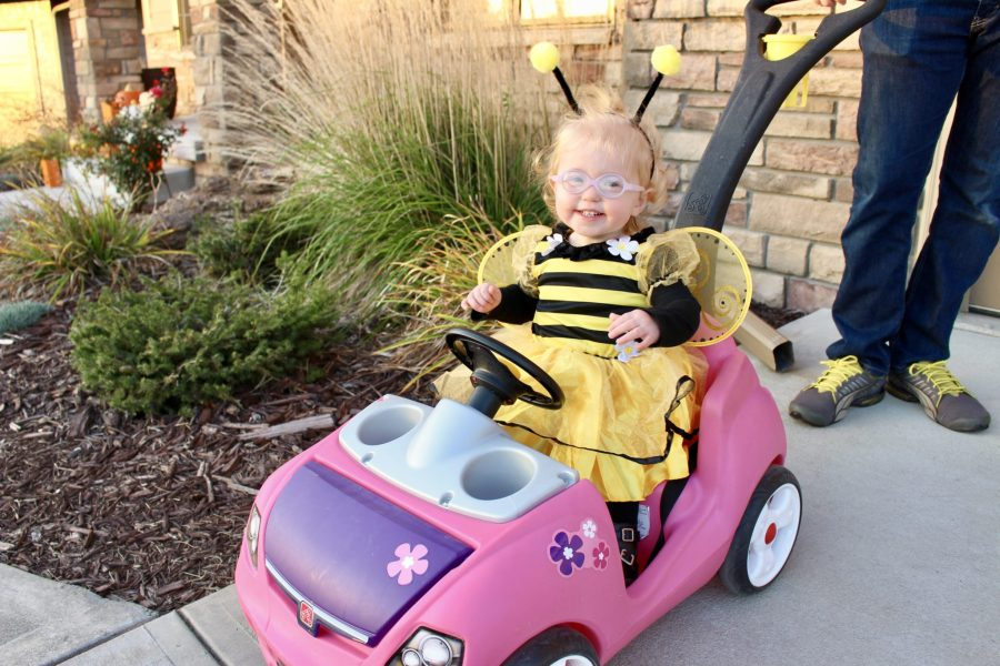 Happy Halloween from our Baby Bumblebee!   ournextadventure.co