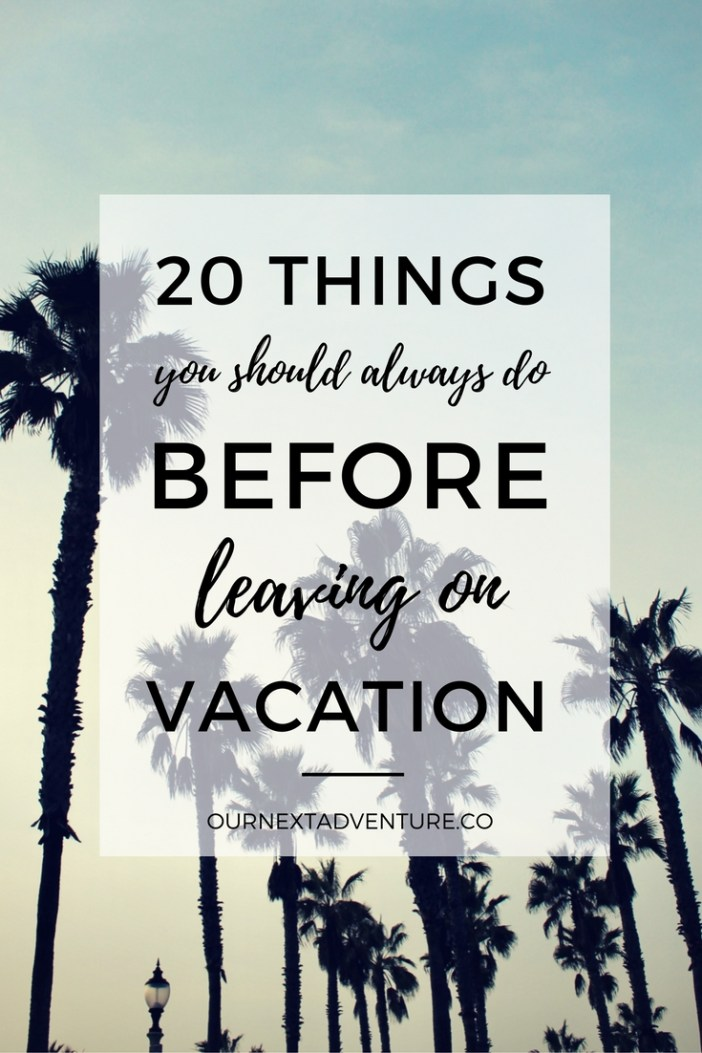 What to do before a vacation and when to do them so you're not so stressed! // Family Travel | Travel with Kids | Planning a Vacation