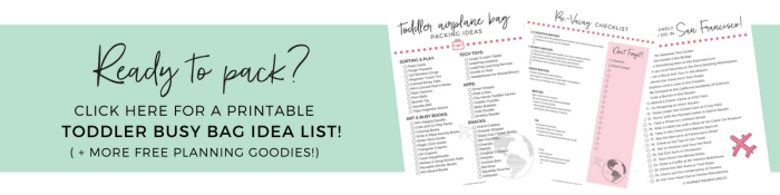 Free Printable Toddler Busy Bag Idea List