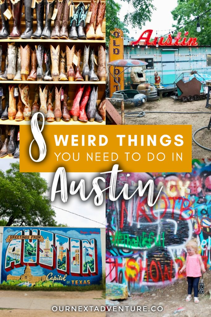"""""""Keep Austin Weird"""" by exploring these 8 awesomely weird things to do in Austin, Texas. #austin #texas #atx #keepaustinweird #unitedstates #familytravel #travelwithkids // Family Travel 