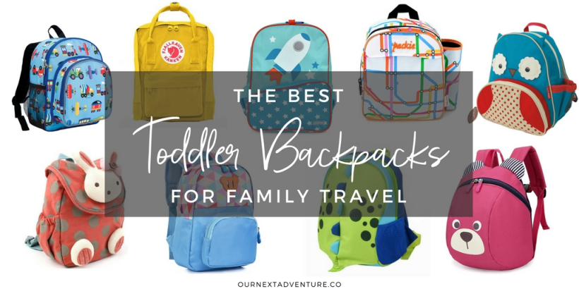 Toddler-friendly backpacks that are perfect for a family trip. // Family Travel   Kids Backpacks   Toddler Luggage   Flying with a Toddler   Traveling with Kids   What to Pack in a Carry On   Toddler School Bags   Kids Rucksack   SkipHop Backpack   Fjallraven Backpack   Girls Backpack   Boys Backpack   Mini Backpacks
