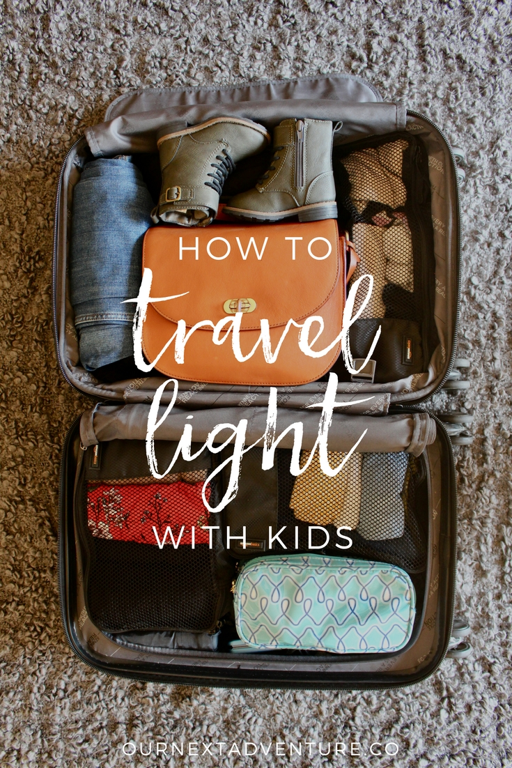 10 Tips To Help You Travel Light, Even With Kids. // Family Travel
