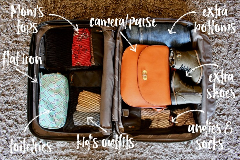 10 tips to help you travel light, even with kids. // Family Travel | Travel with Kids | Packing Guide | Capsule Wardrobe | Packing Cubes | Carry On Packing | What to Pack | Flying with Baby | Traveling with Toddler | Flying with Kids