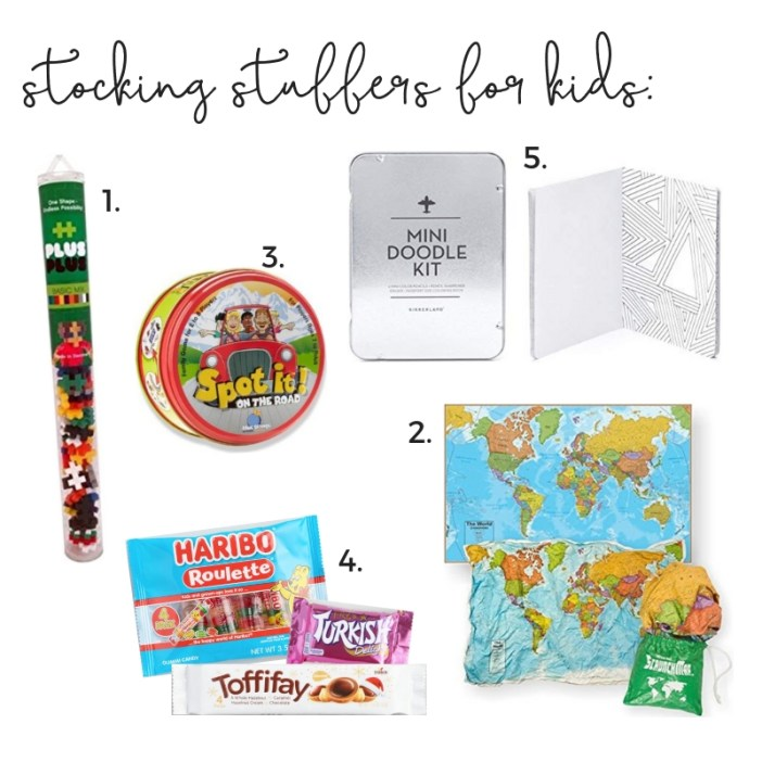 Travel stocking stuffers for everyone in the family (Dad, Mom, Kids, Toddler & Baby!) #christmas #holidays #stockingstuffers #giftguide #familytravel // Travel Gift Ideas | Cheap Stocking Stuffers | Useful Stocking Stuffers | Christmas Gifts for Mom | Gift Ideas for Dad | Affordable Stocking Stuffers | Experience Gifts | Baby Stocking Stuffers | Toddler Stocking Stuffers | What to Buy Traveling Family