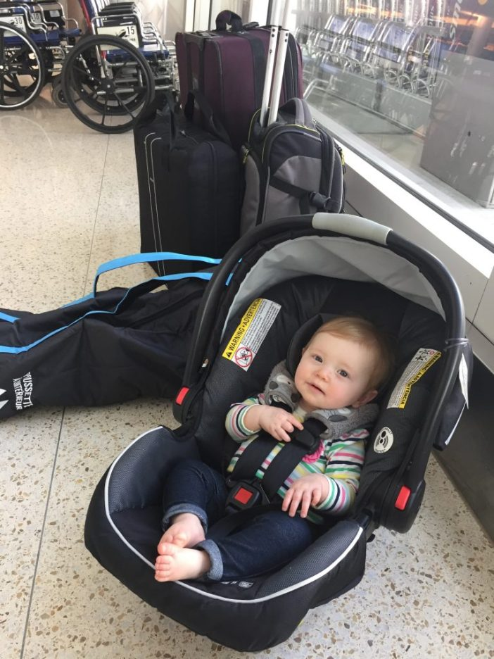 Nobody likes flying with car seats. Read our tips for traveling with car seats, plus our picks for the best portable car seat and boosters that make plane travel more bearable! #flyingwithkids #carseats #familytravel #travelwithkids #familytraveltips // Car Seat for Plane | Best Portable Car Seat | How to Fly with Car Seats | Air Travel with Kids | Car Seat Rentals | Flying with a Toddler | Family Travel Tips | Portable Booster Seat | Travel Car Seat | Lightweight Carseat | Cosco Scenera Next | Maxi-Cosi | MiFold | Bubble Bum | Hiccapop Booster