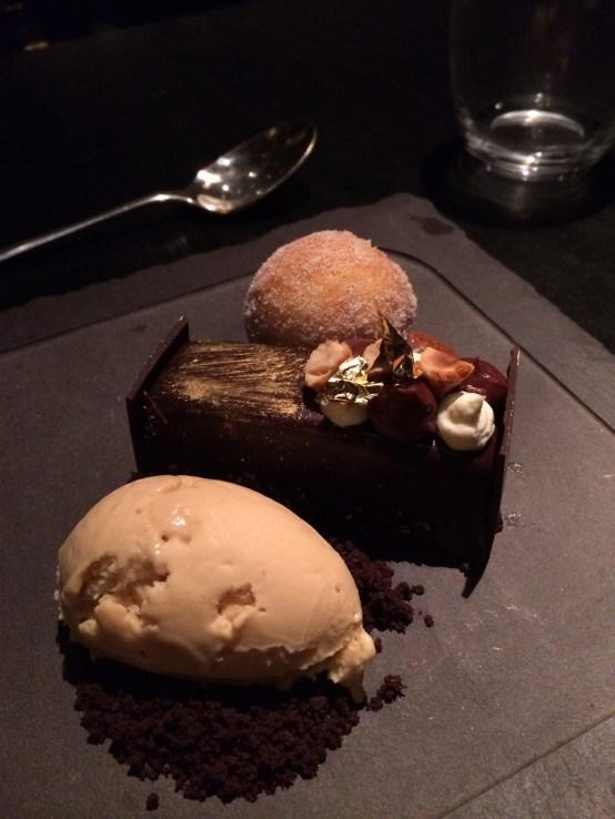 gold leaf on dessert