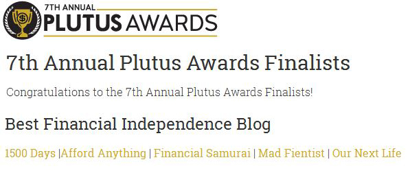 7th Plutus Awards, Best Financial Independence Blog Finalists