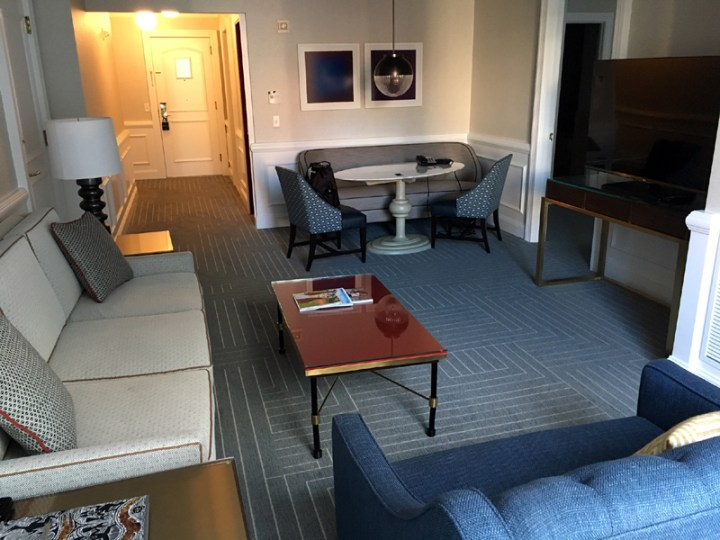 My hotel suite, one of the perks I'll miss after we retire early.