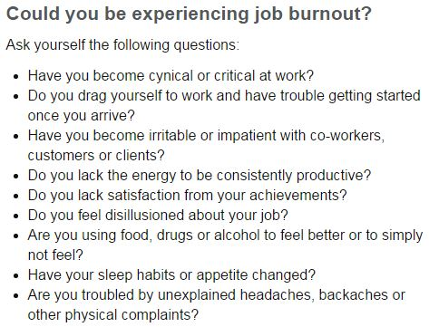 Could you be experiencing job burnout?